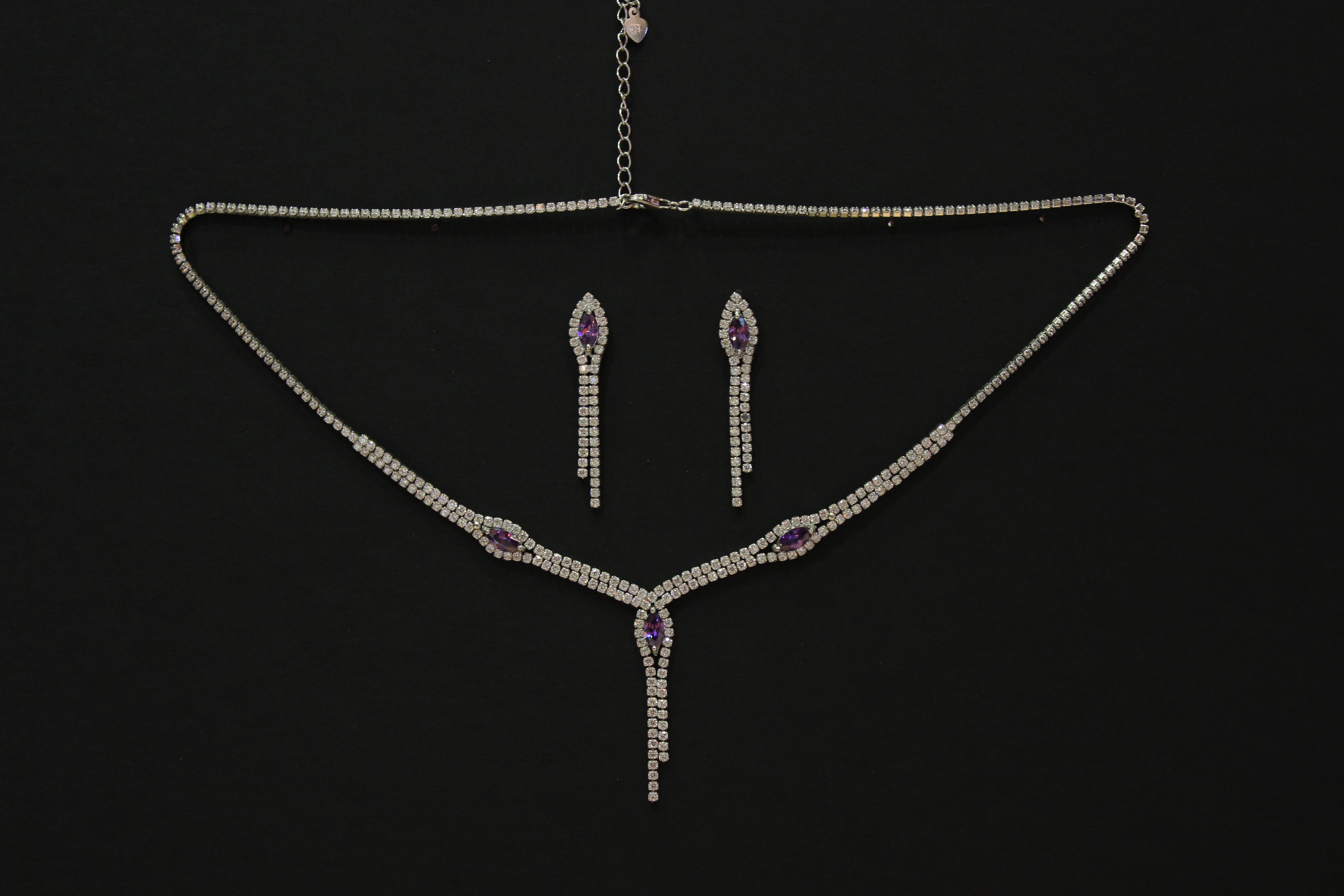 Collar colgante pendientes novia plata plateria detalles alcala de henares