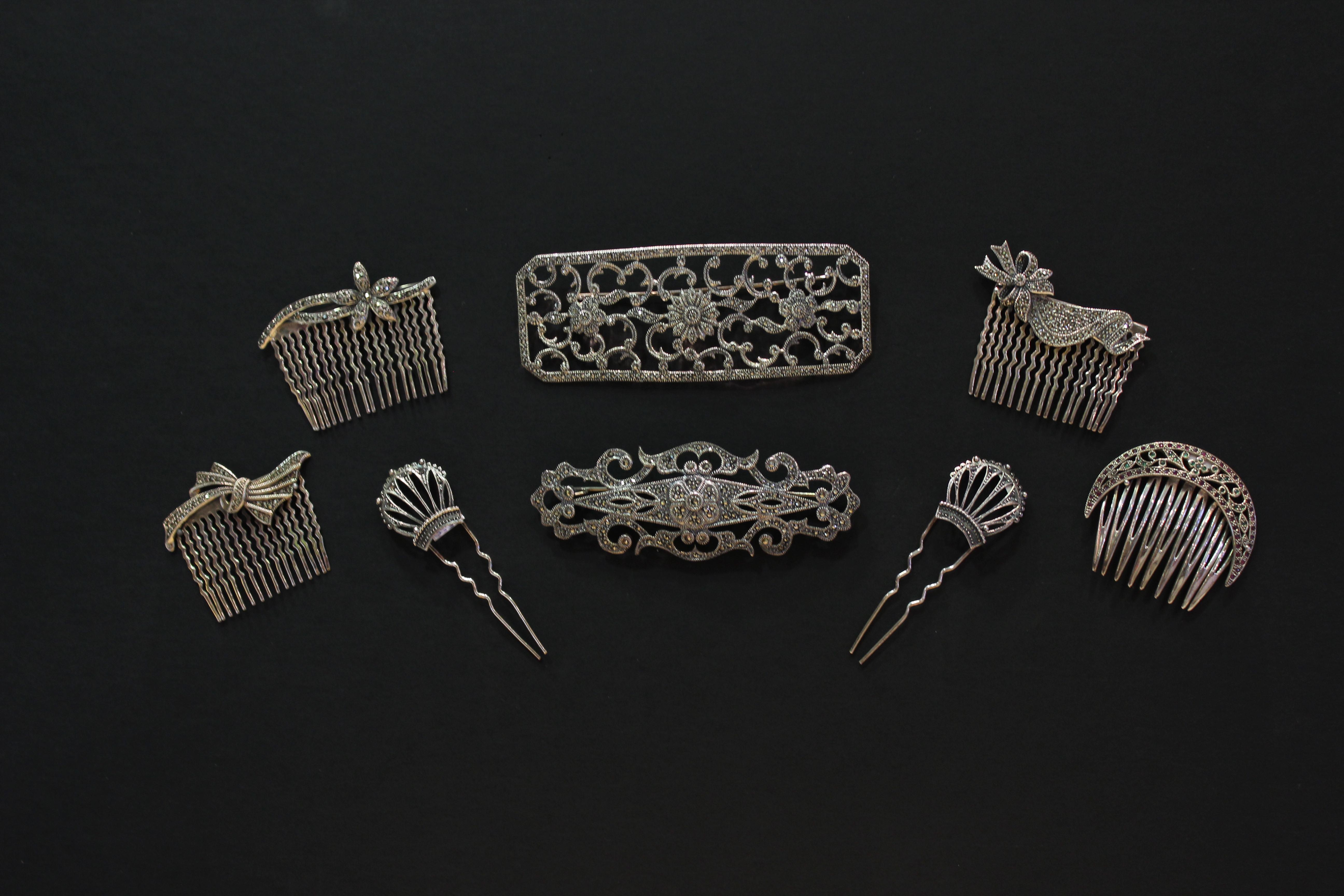 Diademas peinetas pelo recogidos plata plateria novias detalles alcala de henares
